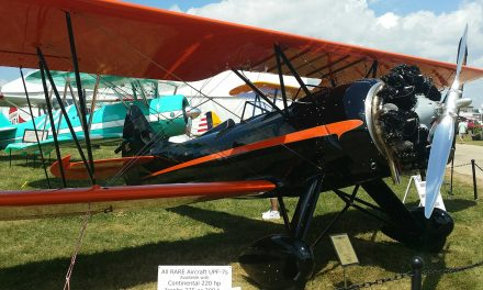 Note the turquoise Stearman in the background. It is a friend of my families.