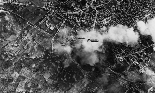 Blogged: #WWII From Above; dramatic photo of #bombs falling on the industrial city of Terni, Italy, in 1943.
