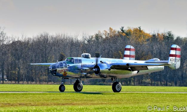 "B-25J ""Panchito"" at Grimes Field Urbana, Ohio."