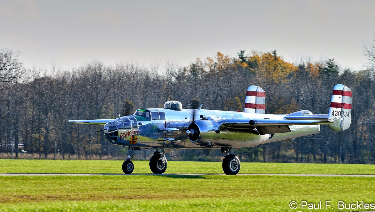 "B-25J ""Panchito"" at Grimes Field Urbana, Ohio."