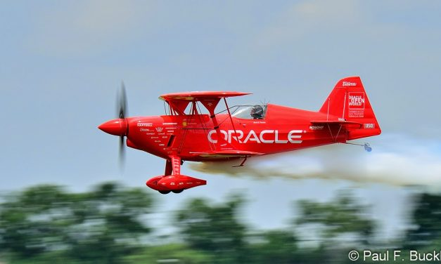 Sean D. Tucker in the Oracle Challenger III at the Vectren Dayton Airshow, Dayton, Ohio June 2014.
