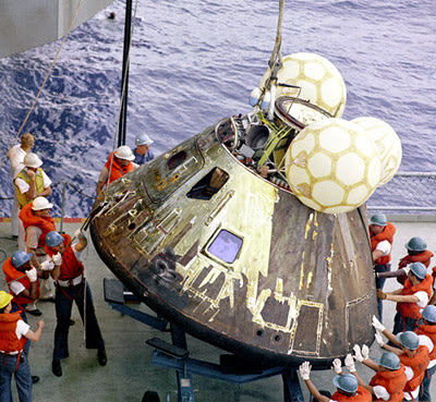 Blogged: #Apollo 13 Command Module Recovery. #space