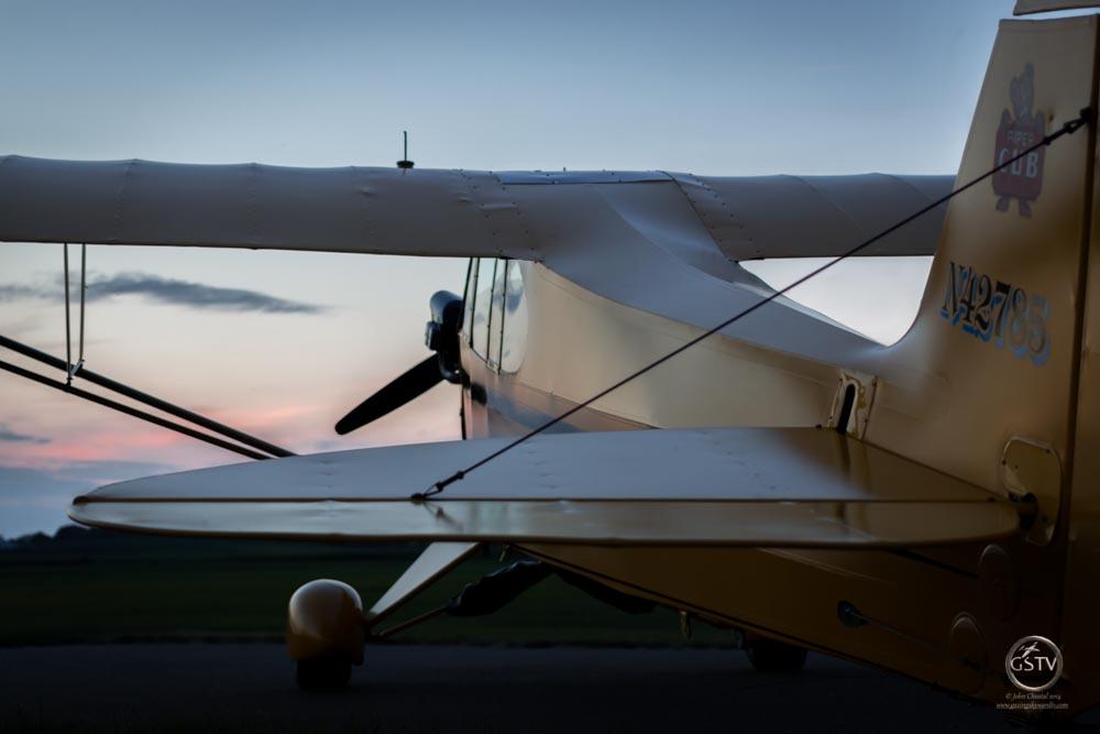 J-3 Cub at Sunset