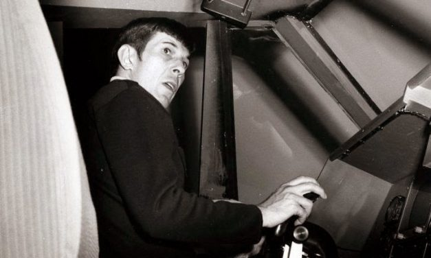Leonard Nimoy visiting Boeing….:-))) We will miss you Mr. Spock.