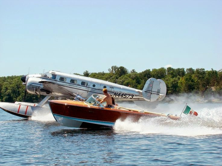 You can cruise around the lake in your seaplane, but your boat can't fly!