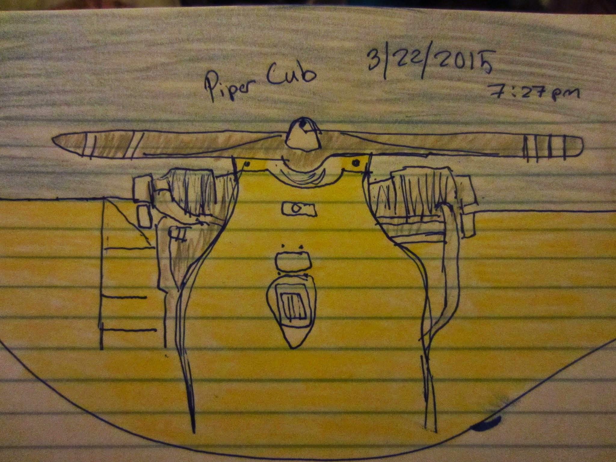 My sketch of a Piper Cub!