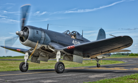 """FG-1D Corsair """"Whistling Death"""" from the Texas Flying Legends and flow by Doug Rezendaal"""