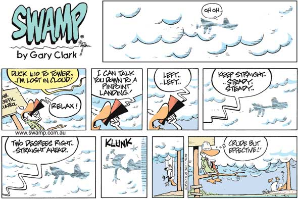 Cartoon by Gary of Swamp Cartoons #avgeek  #funny  #plusonly