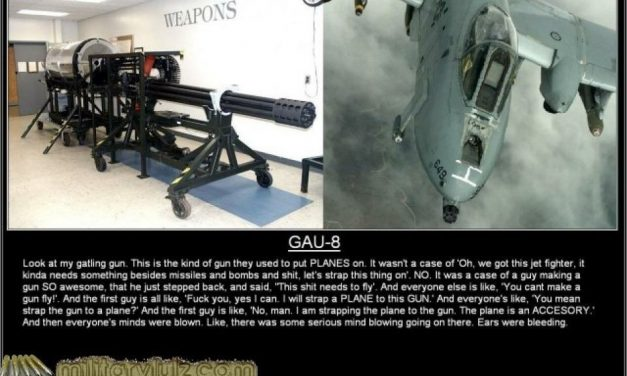Gazing Skyward TV, I think this best describes the GAU-8 the best. LMAO!