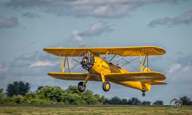 Boeing Stearman Jumps into the Air