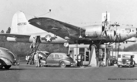 A Five Dollar Bet Results in a Flying Fortress Gasoline Station