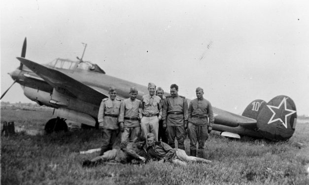 *Correction* A number of people have mentioned that the photo I used in today's post is of a Petlyakov Pe-2.