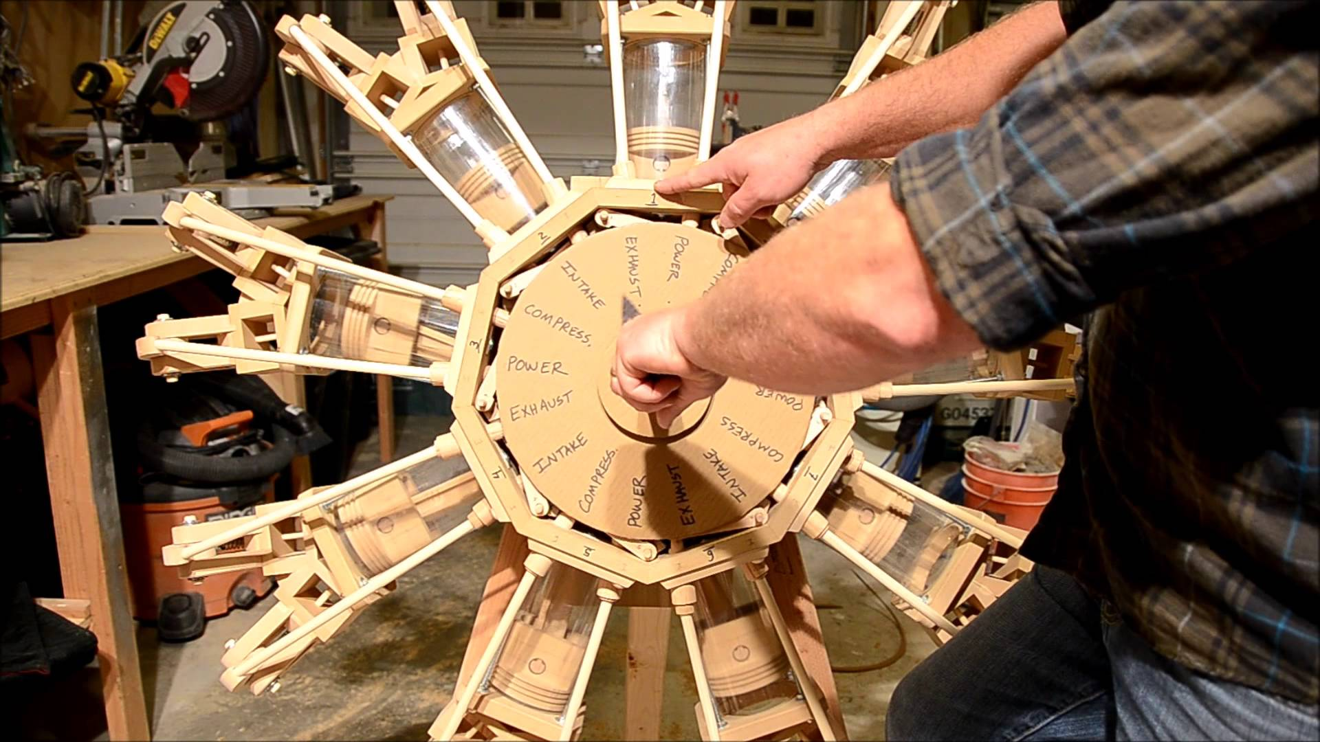 This Guy Built A Wooden Radial Engine And Explains How It Works