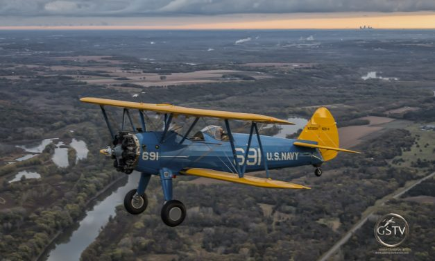 Stearman over the Minnesota River Valley