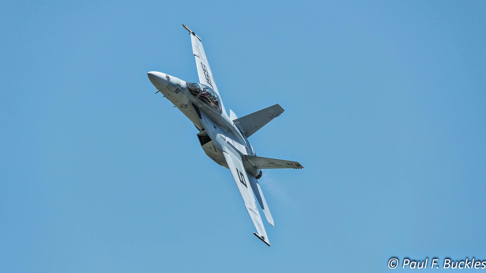 Navy F/A 18 Super Hornet at the Vectren Dayton Airshow 2016.
