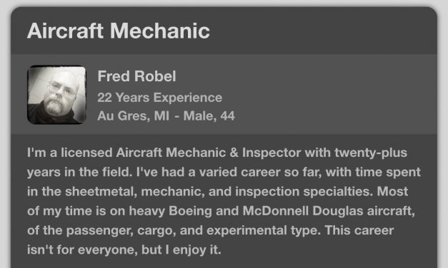 A newly minted A&P mechanic asked Fred Robelfor some advice.