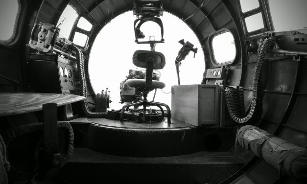 "Nose gunner's position, Boeing B-17G – ""Nine-O-Nine"" from the The Collings Foundation​ collection."