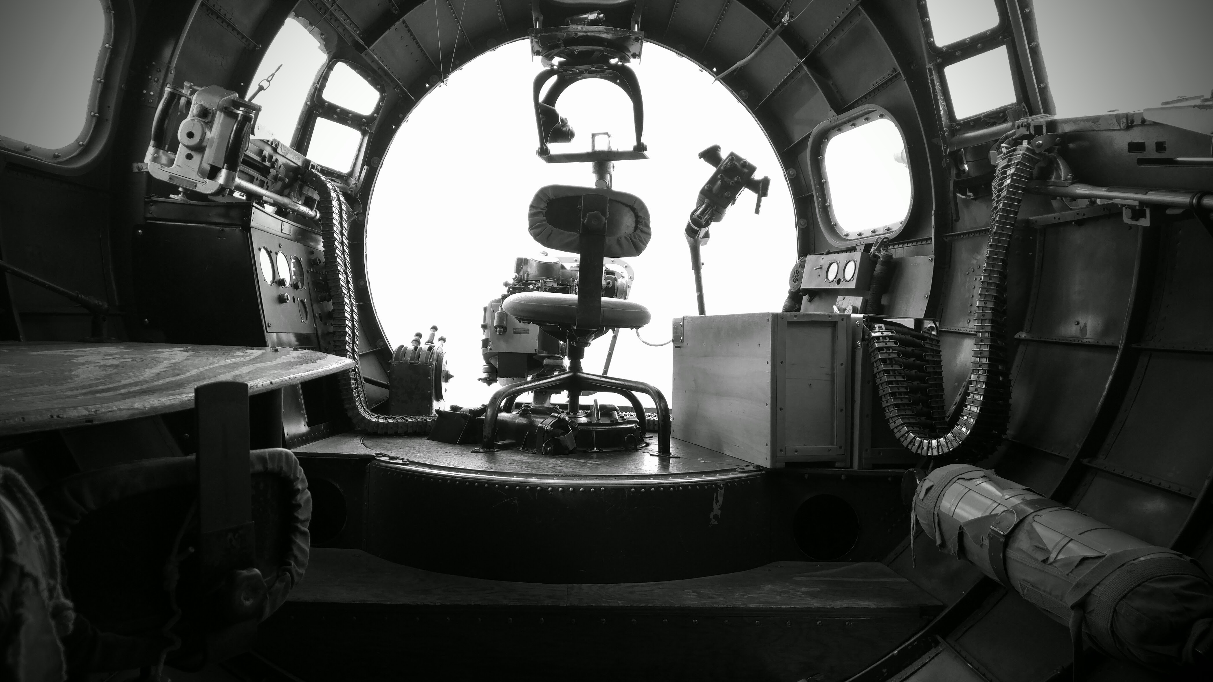 """Nose gunner's position, Boeing B-17G – """"Nine-O-Nine"""" from the The Collings Foundation collection."""