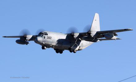 United States Marines – Lockheed Martin KC-130J Hercules (QB 166382) – lands at Bob Hope Airport, Burbank,…