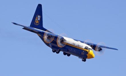 "USMC – C-130 Hercules ""Fat Albert"" (sharp descend to land) – taken at the MCAS Miramar Air Show in San Diego,…"