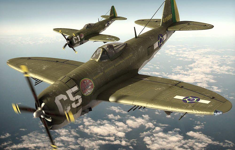 "P-47 Thunderbolt of the brazilian squadron ""Senta a púa"""