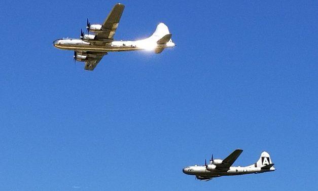 Oshkosh 2017 the only two flying B-29's. #aviation #military #b17flying #b17