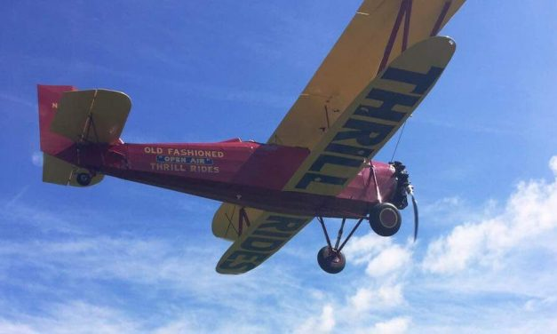 Nothing like a Thrill Ride with Goodfolk And O'Tymes Biplane Rides.