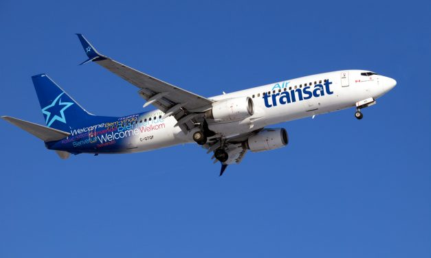An Air Transat Boeing B-737-800 caught on final approach to CYWG / Winnipeg.