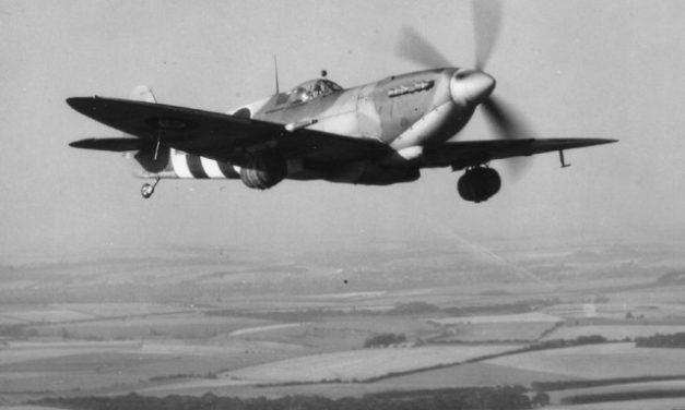 Spitfire with Kegs of Ale underwing.