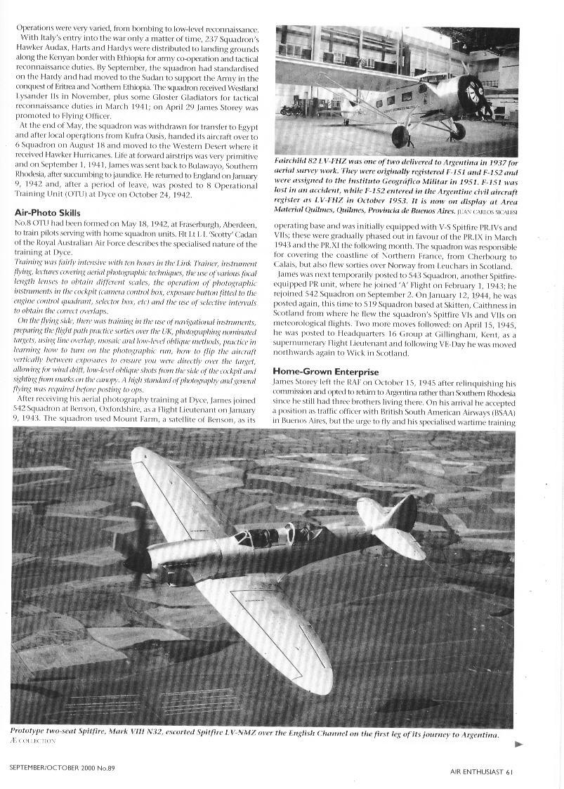 Spitfire in Argentina