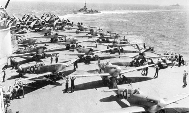 British carrier air power 1945 – SUPERMARINE SEAFIRES AND GRUMMAN AVENGERS.