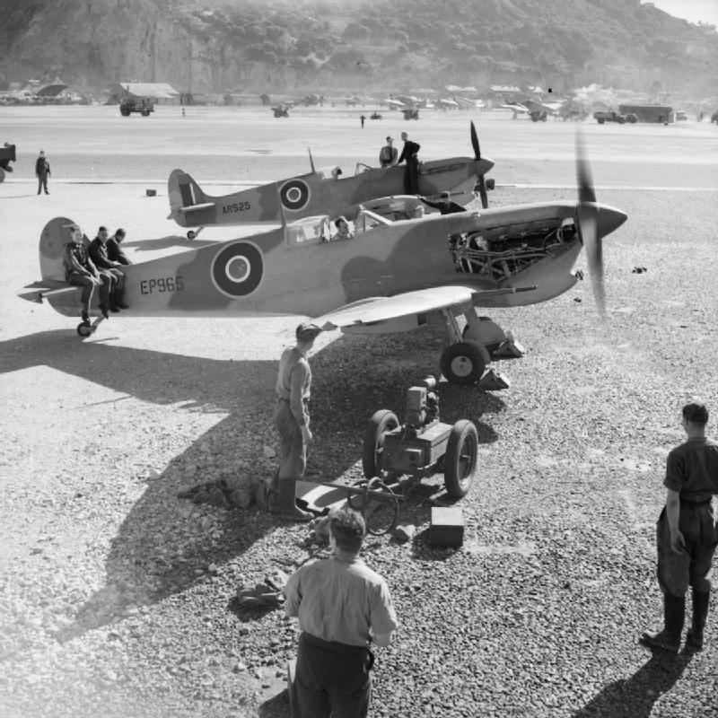 Spitfires and Hurricanes for Operation Torch (Allied forces landings in North Africa).