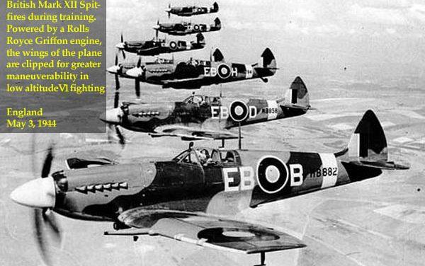 Rolls Royce Griffon-engined, clip-winged Supermarine Spitfire MK XII.