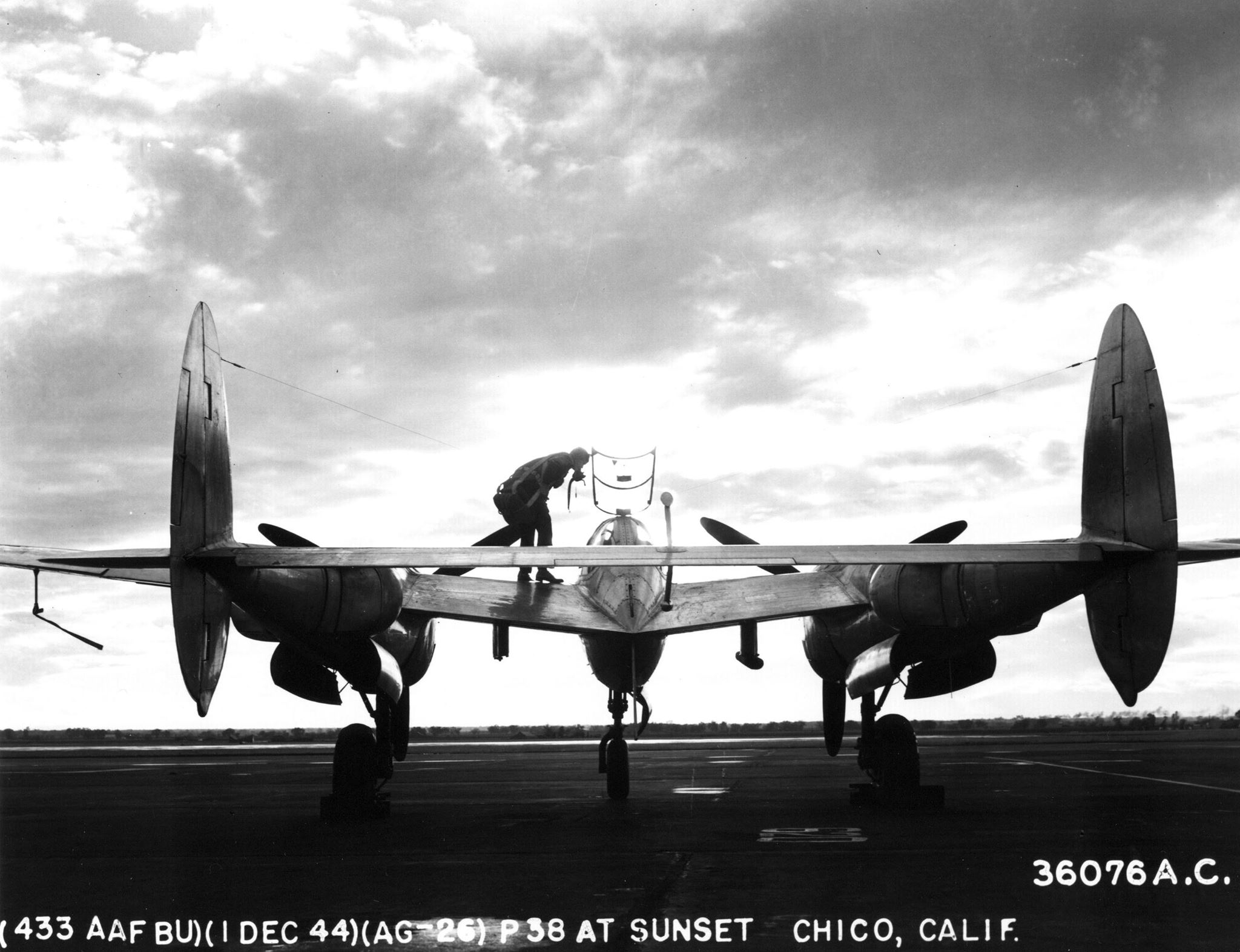 A different view of the classic P-38.