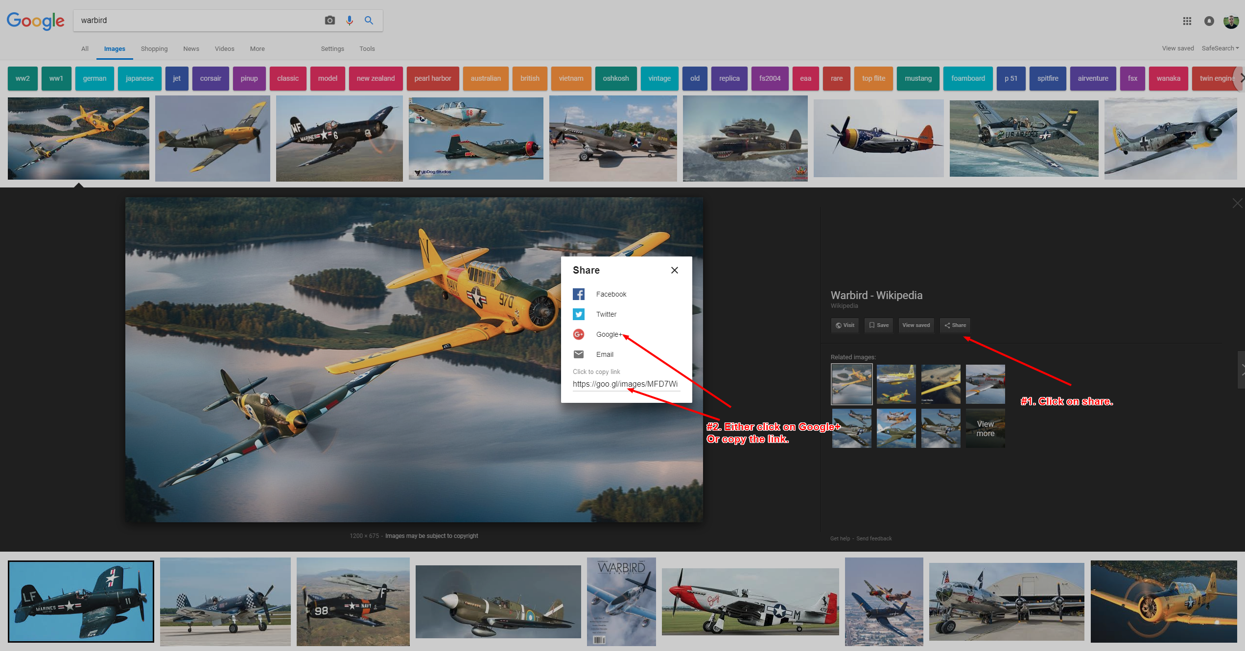 How to Share Photos on The Google+ Aviation Guild