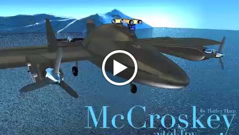 """""""McCroskey Wing vtol fpv"""",  searching for Antarctic Sunrise."""