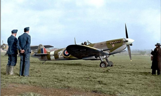 Spitfire Mk.IXc BS456, coded UZ-Z of 306 (Polish) Squadron at Northolt on the 16th November 1942.