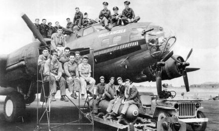 This B-17F, tail number 41-24577, was named Hell's Angels after the 1930 Howard Hughes movie about World War I…
