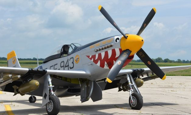 """An F-51 """"Mustang"""" (restoration) from the Korean War named """"Was That Too Fast"""""""