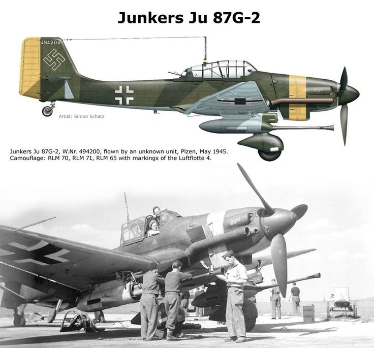 "A recent post from my WWII GERMAN AVIATION collection.  A favorite of mine, the ""Stuka"" converted to a tank hunter!"