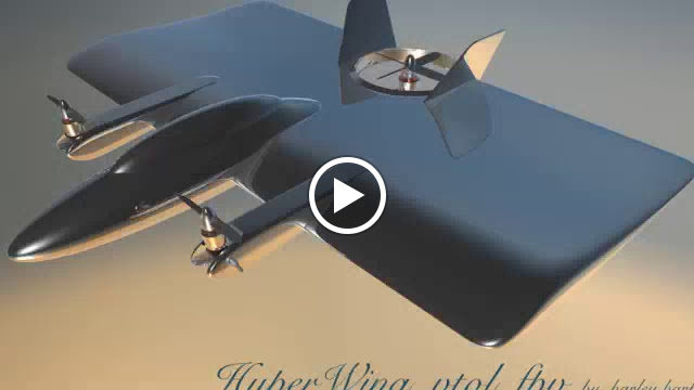 """Hyper Wing VTOL FPV "" combines flying wing with multi-rotor operation. Cinema  4D."