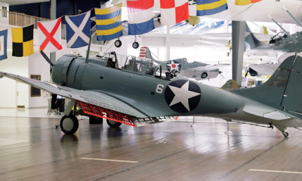This SBD-2 was one of sixteen dive bombers of VMSB-241 launched from Midway on the morning of 4 June.