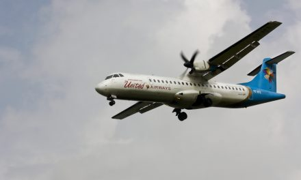 S2-AFE United Airways ATR72 on finals at VGHS