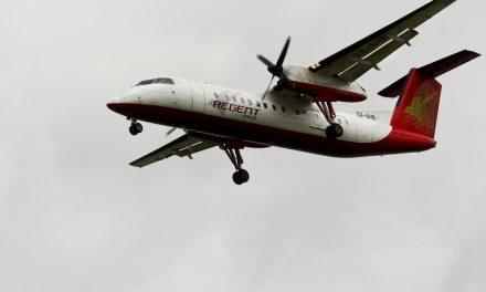 S2-AHB Bombardier Dash 8-Q314 Regent Airways Landing at VGZR taken on July 6, 2012
