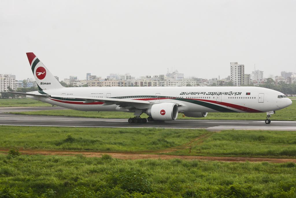 Bangladesh Biman Boeing 777-300ER (S2-AFO) Ready to Take Off