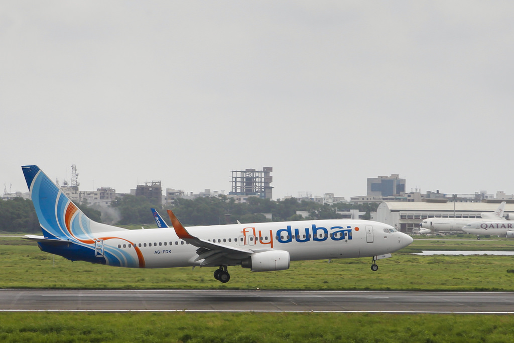 Flydubai Boeing 737-800 A6-FDK Lands at Dhaka Airport (DAC/VGZR)