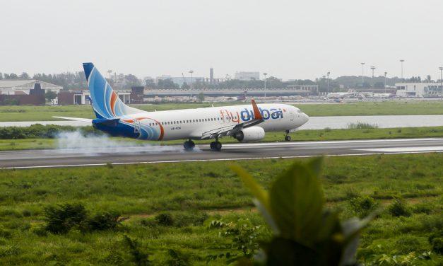 Flydubai Boeing 737-800 A6-FDK Lands at Dhaka Airport (DAC/VGZR)