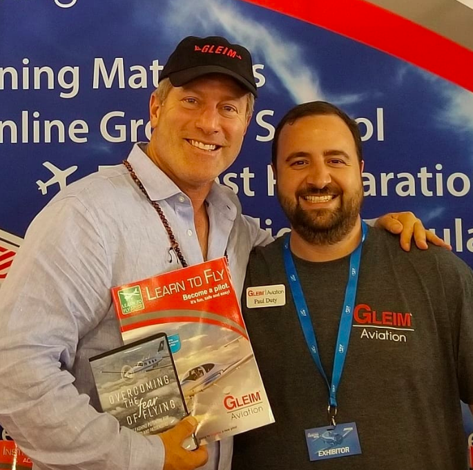 Helping inspire the next generation of #pilots with Paul Duty of Gleim Aviation at the EAA #OSH18 event last weekend.