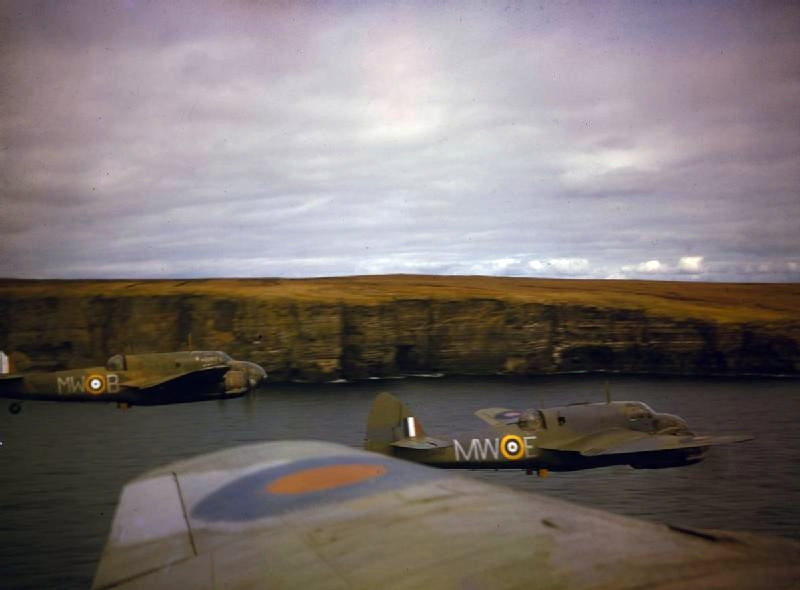 A series of colour images of the Bristol Beaufort torpedo bomber, a forgotten hero of the RAF famous for damaging…