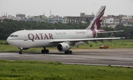 Qatar Airways Cargo Airbus A300B4-622R(F) A7-AFB Preparing to Take off